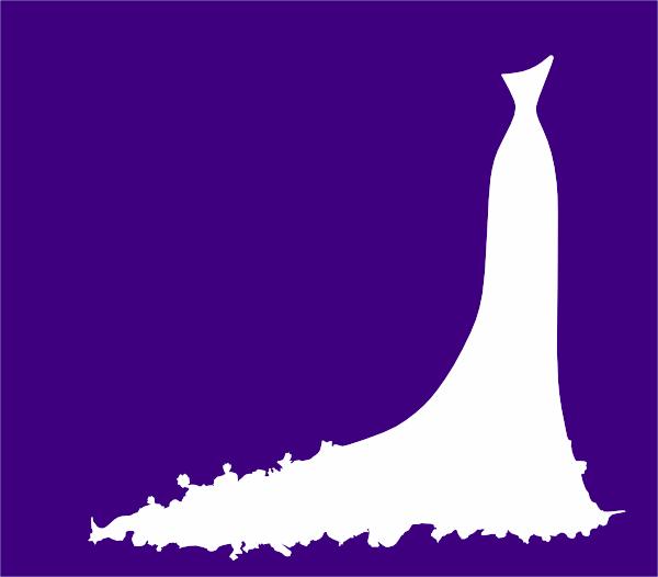 bridal dress invitation on purple clip art at clkercom
