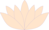 Pale Orange Violet Trim Lotus  Clip Art