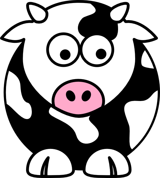 Black Cow Clip Art At Clker.com