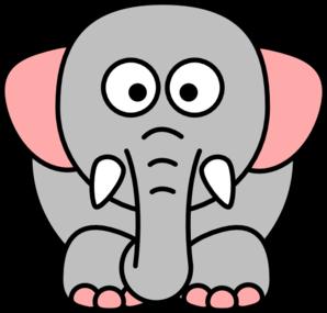 cartoon elephant grey pink clip art at clker com vector zebra vector print zebra victor vasarely