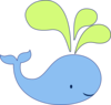 Light Blue Honeydew Whale Clip Art