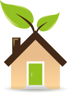 House With Green Energy Clip Art