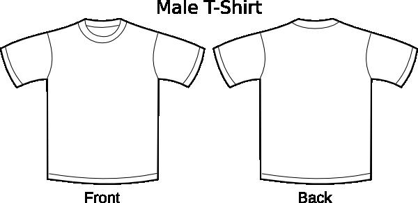 Scribble Drawing T Shirt : Plain t shirts clip art at clker vector