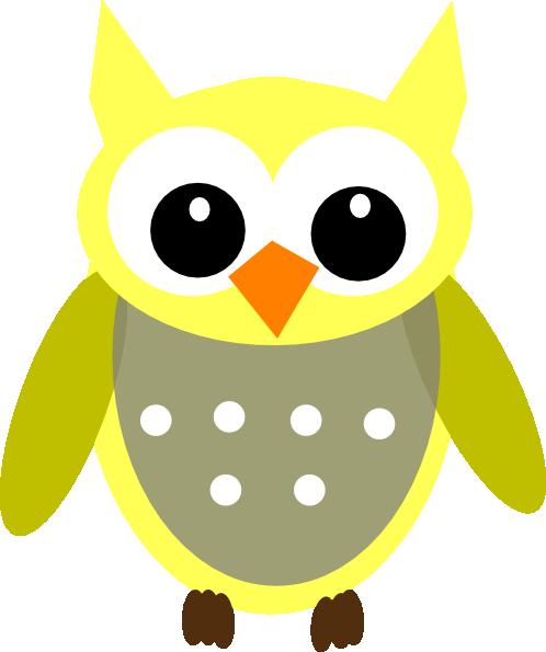 cute yellow gray owl clip art at clker com vector clip cute colorful owl clipart Cute Cartoon Owl Clip Art