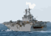 The Amphibious Assault Ship Bataan Steams Through The Mediterranean Sea As One Of Seven Ships Attached To Amphibious Task Force-east Clip Art