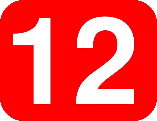 number 12 red background clip art at clker com