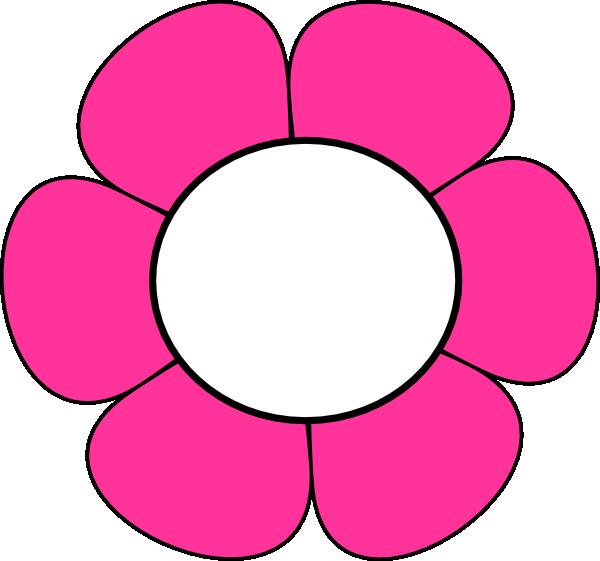 Black Flower Clip Art At Clker Com: Pink And White Flower Clip Art At Clker.com