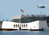 Uss Abraham Lincoln (cvn 72) Passes The Arizona Memorial In Pearl Harbor, Hawaii Clip Art