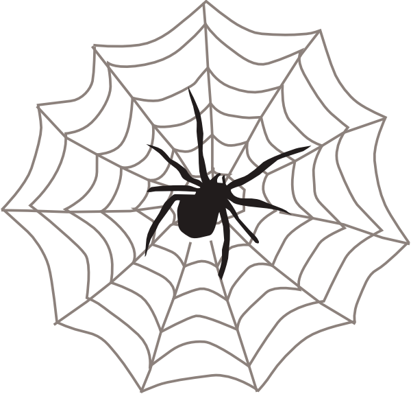 spider with web clip art at clker com vector clip art online rh clker com clipart spider web pattern spider web clipart
