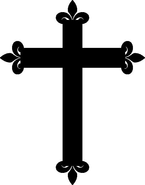 black cross clip art at clker - vector clip art online