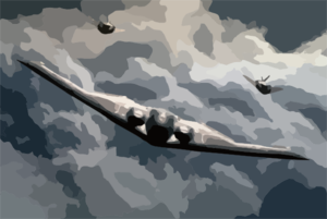 A U.s. Air Force B-2 Spirit And Two B-117a Nighthawks Fly In Formation Clip Art
