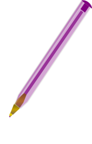 Purple Ballpoint Pen Clip Art