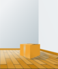 Box Over Wood Floor Clip Art
