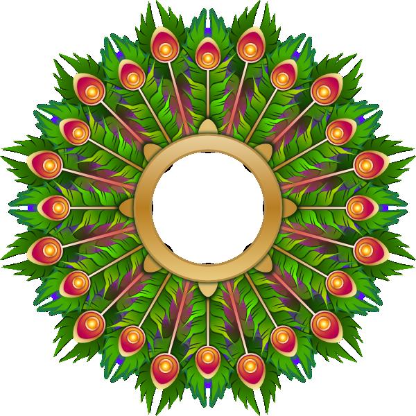 Peacock Feather Wreath Clip Art at Clker.com - vector clip ...