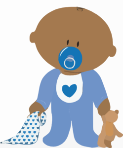 Baby Boy With Teddy Clip Art At Clker Com Vector Clip