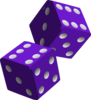 Two Purple Dice Clip Art