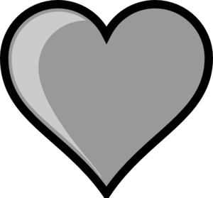 Gray Heart Clip Art at Clker.com - vector clip art online ...
