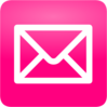 Pink Email Button Clip Art
