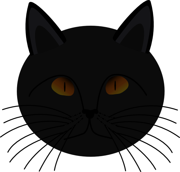 Black Cat Face Clip Art at Clker.com - vector clip art ...