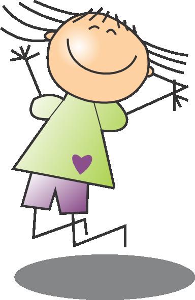 Jumping Girl 2 Clip Art at Clker.com - vector clip art ...