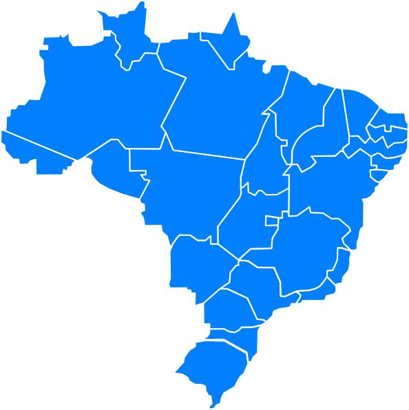 Mapa Do Brasil Clip Art at Clker.com - vector clip art ...