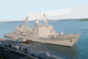 The U.s. Navy Guided Missile Cruiser Uss Leyte Gulf (cg 55), And Uss Bulkeley (ddg 84) Clip Art