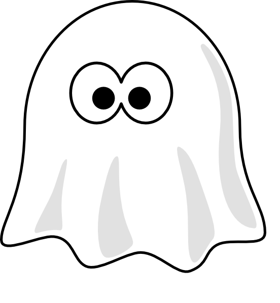 Black And White Ghost Clip Art At Clkercom Vector Online