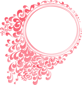 Clipart Pink Linear Gradient Round Border on Spiral Swirl Clip Art Borders