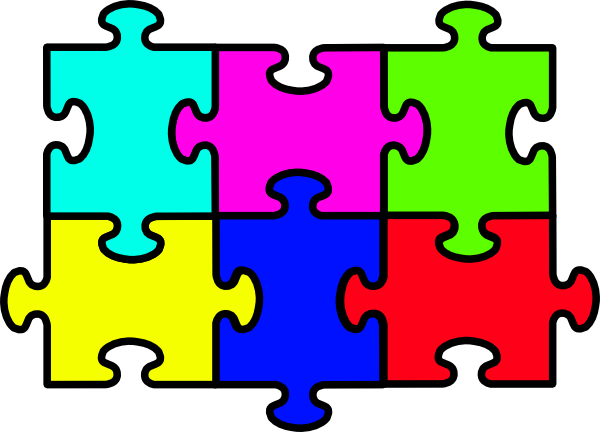 Puzzle Six Pieces Clip Art At Clker Com Vector Clip Art Online Royalty Free Public Domain