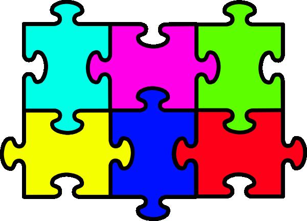 Puzzle Six Pieces Clip Art at Clker.com - vector clip art