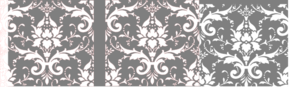Damask Gray And Pink Clip Art