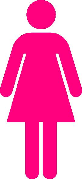 Ladies Bathroom: Ladies Bathroom Symbol Hot Pink Clip Art At Clker.com