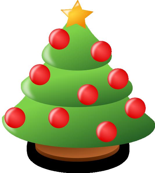 Cartoon christmas tree clip art at clker vector