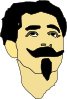 Man With Mustache And Goatee Clip Art