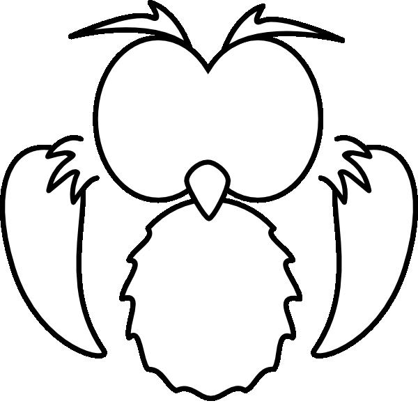 Black White Owl Clip Art At Clker Com Vector Clip Art