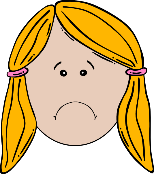 Lady face unhappy clip art at vector clip art online royalty free public domain - Clipart visage ...