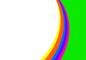 Simple Rainbow Background Clip Art