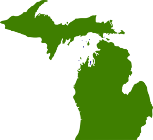Green State Of Michigan Clip Art