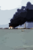 Heavy Smoke Rises From A Fuel Depot Aboard U.s. Naval Forces Marianas Clip Art
