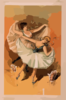 [two Ballerinas, Blond Woman In Front With Brunette Woman Behind] Clip Art