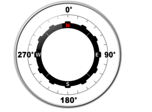 Modern Compass Without Needle Clip Art