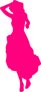 Pink Lady  Clip Art