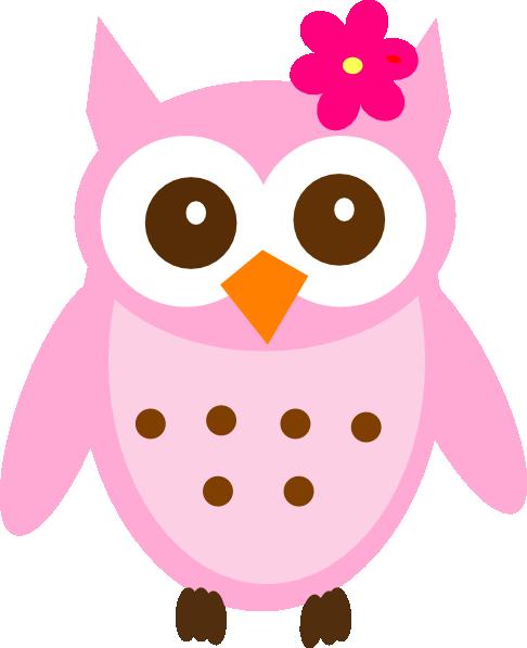 pink baby owl clip art at clker com vector clip art online rh clker com baby girl owl clip art baby girl owl clip art