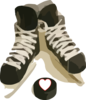 Hockey With Heart Clip Art