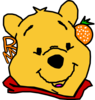 Winnie The Pooh With Orange And Name Clip Art