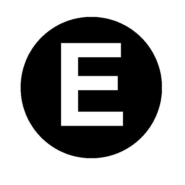 White Letter E Clip Art At Clker.com