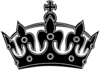 Black Keep Calm Crown -- Border 3 Clip Art