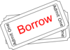 Borrow Ticket Button Clip Art