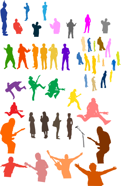 people silhouettes clip art at clker com