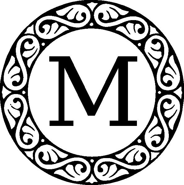 monogram letter m clip art at clker com